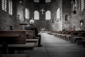 Man in a Church